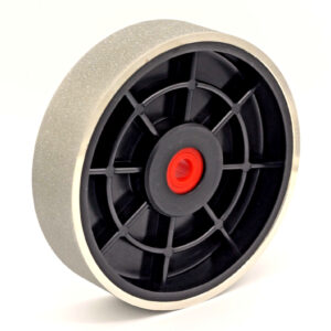 six inch x one and a half inch hard electroplated diamond wheel 180 grit image
